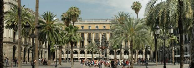 La Plaça Reial à Barcelone
