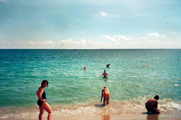 barceloneta avec des enfants a Barcelone