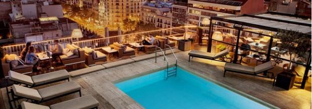 h tels de luxe avec piscine roof top barcelone