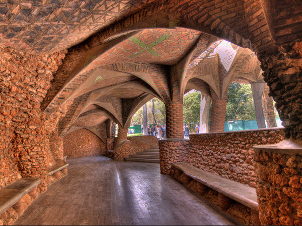 un parc réalisé par Gaudi